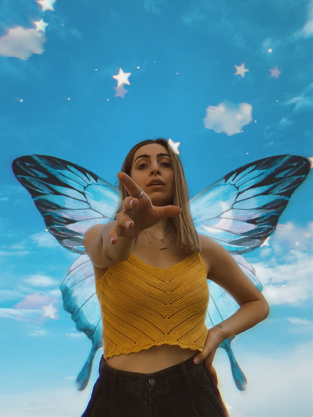 #aesthetic #aesthetictumblr #wings #fairy #butterfly #blueaesthetic #sky