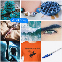 percyjackson percyjacksonandtheolympians anaklusmos riptide camphalfblood bluefood bluefood4ever greeneyes lightning percyjacksonsonofposeidon sonofposeidon ohmygods beadednecklace campnecklace pen bluecookies bluewaffles ocean oceanwaves percyjacksonedit percyjacksoncollage