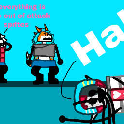 objectshowfan2003sanimations comic jevil undertale deltarune red blue yellow white black popsicle dragon heartemoji goat redpink pinkred emoji lightyellow freetoedit