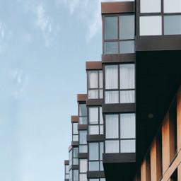 freetoedit architecture lines blue windows sky minimalism