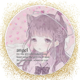 cute aesetic anime angel neko pink pastel wings halo glitter emoji heartemoji heart