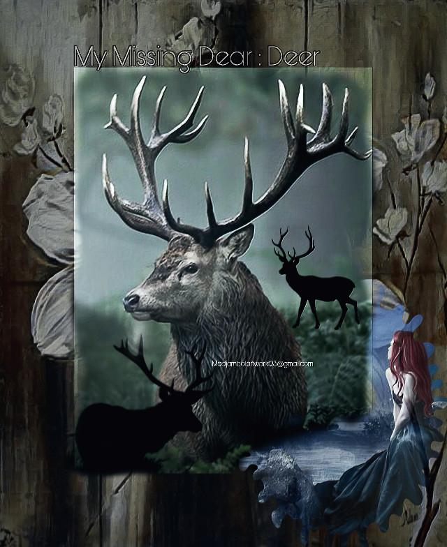 @madjambolartwork123 Mj.arts #feelings #missing #wildlife #deer #dear 💐❤️💋❤️💐