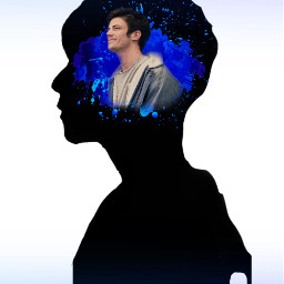 grantgustin grant theflash flash sideprofile side face mind blue fade drip black blackandblue paint splatter paintsplatter