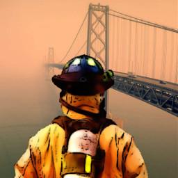 remixed sanfransisco calfornia fire goldengatebridge fireman tragedy