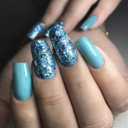 glitter nails nailz glitternails blue bluenails nailswag nailsart nailspassion nailsdesign nailspolish