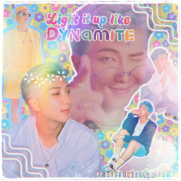 kpop kpopedits rm rmbtsedit bts bangtanboys namjoon kimnamjoon retroaesthetic dynamite