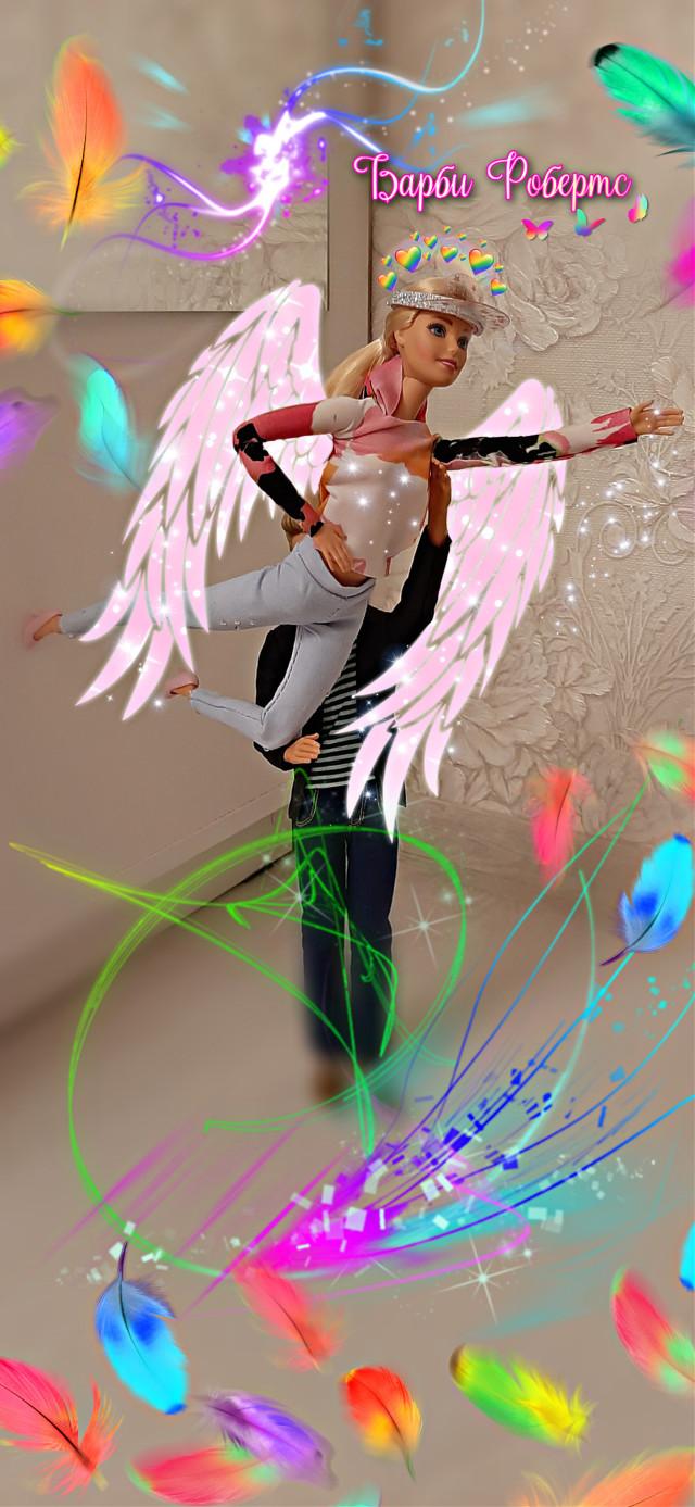 #барби #барбикукла #крылья #радуга #перья #Barbie #barbiedoll #wings #rainbow #barbiephotography
