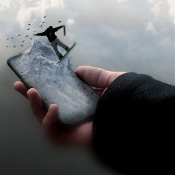 replay photomanipulation 3dart snowboard telephone surreal freetoedit