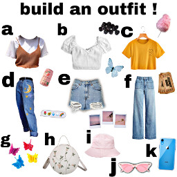 outfit clothing shirts jeans glasses bags clips shorts phone trending buildyourown buildyourownoutfit buildanoutfit outfitmaking aesthetic cool famous butterfly berries cottoncandy buckethat polaroid peach drink tickets freetoedit