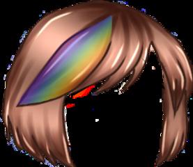 capelli arcobaleno colori gachalife gacha life marrone caschetto cute gachalifecute freetoedit