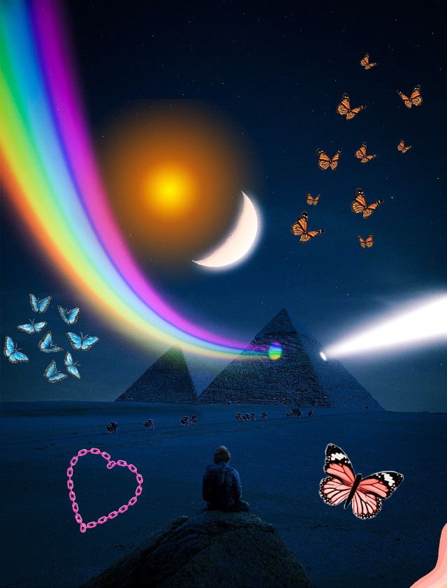 # awsome please follow me! I spend time on my work! #follow #rainbow # butterfly