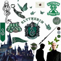 harrypotter slytherin hogwarts edit freetoedit