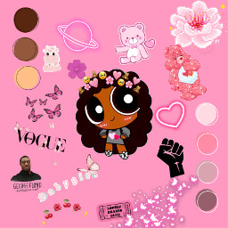 interesting art picart powerpuffgirls powerpuffgirl blacklivesmatter blackgirl pink aesthetic blacklivesmattermovement bear flower freetoedit