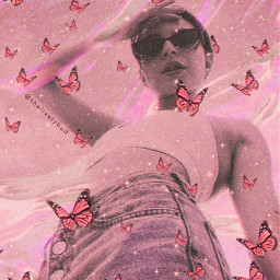 aestheticedit makeawesome butterfly sparkle heypicsart rcholographicbackground freetoedit
