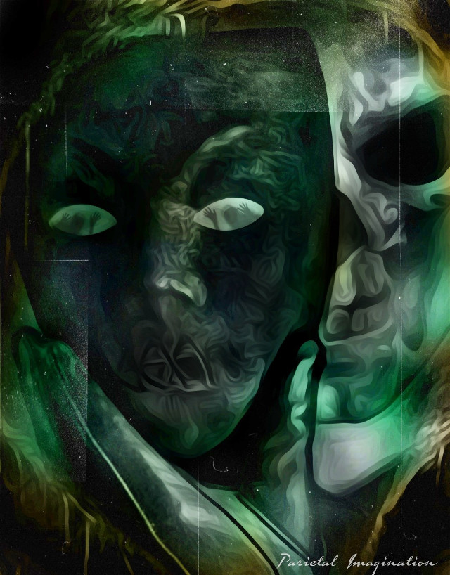 Edit by: Parietal Imagination Art @pa #skull #face #mask #darkness #souls #fx #adjust #masterstoryteller #madewithpicsart #parietalimagination