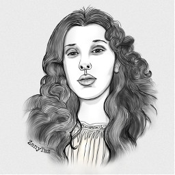 freetoedit milliebobbybrown sketches enolaholmes teenactress