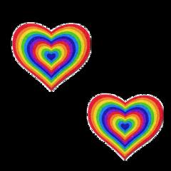 fanartofkai vscogirl retro love indie indiekid rainbow red yellow heart darling cottage cottagecore aesthetic colorful colorpop art kids qsy vintage freetoedit
