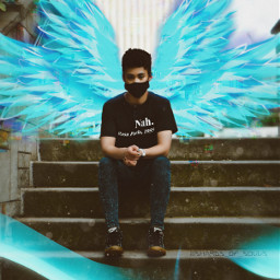 wings vinyl teal turquoise blue light srcneonwings neonwings freetoedit