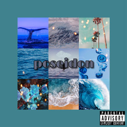 album poseidon percyjackson pjo aesthetic poseidonaesthetic blue ocean oceanaesthetic blueaesthetic aestheticblue aestheticalbum freetoedit