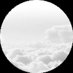 clouds circlebackground white freetoedit