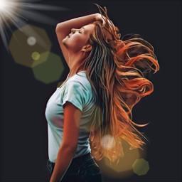 profile pose fashionpose hair hairstyle hairdo redhair photoaet photoedit model beautiful beautifulgirl loveandkisses freetoedit