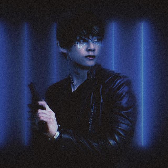 BTS Cyber Punk Taehyung Edit 🖤💜  Tags: #bts #neon #picsart #taehyung #aesthetic