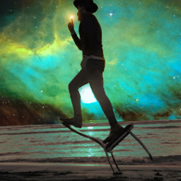 mastershoutout surreal photomanipulation galaxy background beach blending edited madewithpicsart freetoedit