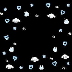 sanrio softcore sanriosticker kawaii kawaiicore cute aesthetic border blue bluesoftcore su6arbuns babycore hellokitty cinnamoroll mymelody