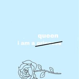 princess aesthetic blue rose queen disney confident selflove wallpaper background freetoedit