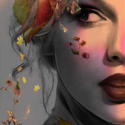 autumn autumnvibes oktober september leaves lady madewithpicsart surreal myedit myart mystyle colorful creativity diversity freetoedit