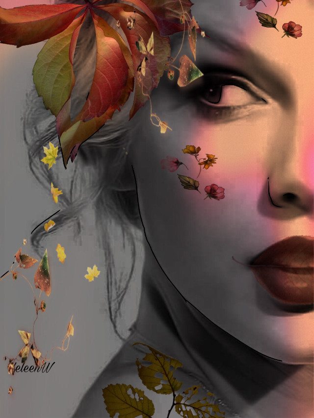 #autumn #autumnvibes #oktober #september #leaves #lady #madewithpicsart #surreal #myedit #myart #mystyle #colorful #creativity #diversity #freetoedit