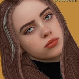 freetoedit art ibispaintx billieeilish bulochka