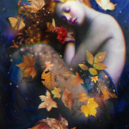 glitcheffect autumn leaves freetoedit fc