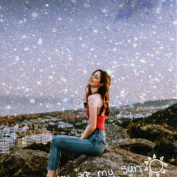 unsplash galaxy rock woman quotesandsayings quotes quote youaremysun mymoon and mystars