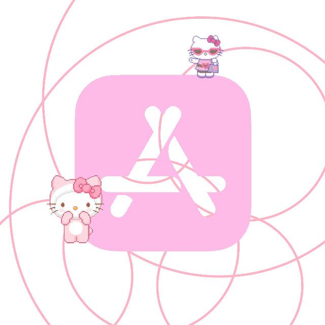 #hellokitty #appstore #apple #iphone #hellokittyandfriends #sanrio #cute #kawaii #mymelody #pompompurin #kitty #kittycore #icon #icons #melody #kuromi #gudetama #japan #china #freetoedit #softcore #logos #appstorelogo #logo #appleiphone