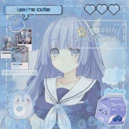 anime blue pastel pastelblue cure jam heart animgirl animeedit edit aestetic blueaesthetic aesteticblue aesteticpastel cute pastelanime pastelanimegirls freetoedit