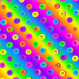 freetoedit neon smileyface rainbow popart graphicart graphic background colors multicolor