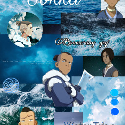 sokka watertribe avatar blue moodboard freetoedit