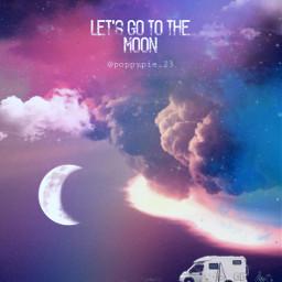 picsart myedit myremix surreal freetoedit sky photomanipulation photoart fxeffects moon clouds vans digitalart