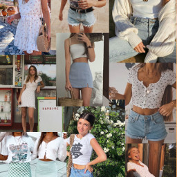 summer summervibes summeraesthetic summercollage clothing freetoedit