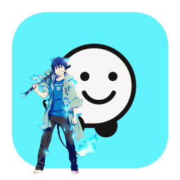 rin rinokumura blueexorcist aonoexorcist waze app anime icon appicon ios14 freetoedit