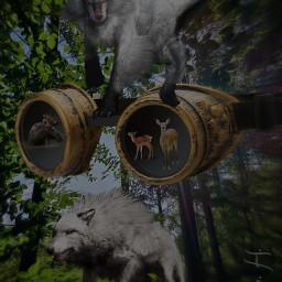 dangerous the fear deers my freetoedit
