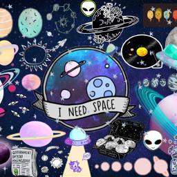 space spaceaesthetic alien planets galaxy freetoedit