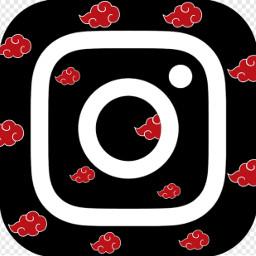 instagram akatsuki naruto logo black iphone freetoedit