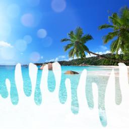 beach dripart drip sunny_day summer freetoedit