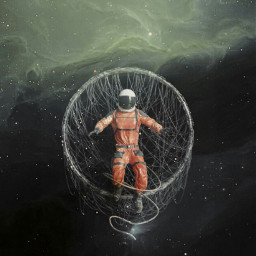 astronaut space circle 3d masterstoryteller be_creative