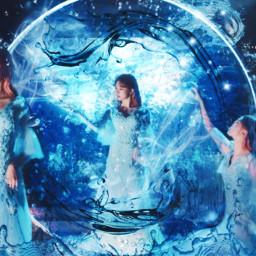 fourelementscontest kpopedit dreamcatcher yoohyeon yoohyeondreamcatcher water blue fantasy dreamcatcherkpop boca kpop