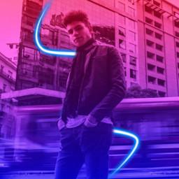 neon neonvibes spiral neonspiral gradient cyber cyberpunk