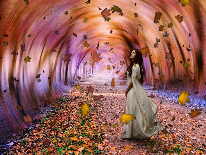 #heypicsart #surreal #autumn #autumnleaves #autumncolors #myphoto #myedit #madewithpicsart #picsarteffects #hueeffect #curvestool #blureffect #radialblur