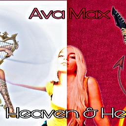 avamax ava max singer song heaven hell angel shedevil breeze flame leaves fire musician music white red harp guitar cool hot sexy twosides nycbreal